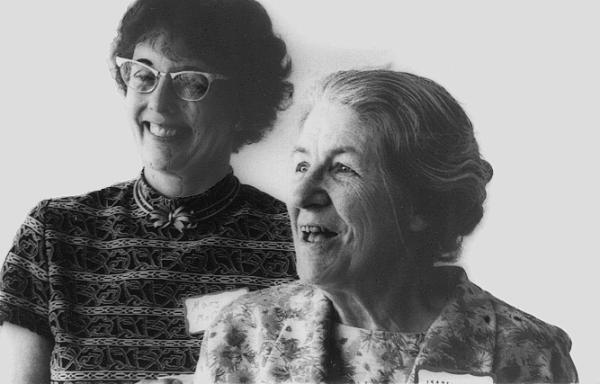 Dr. Mary McCaulley and Isabell Briggs, 1975. Credit:The Myers & Briggs Foundation