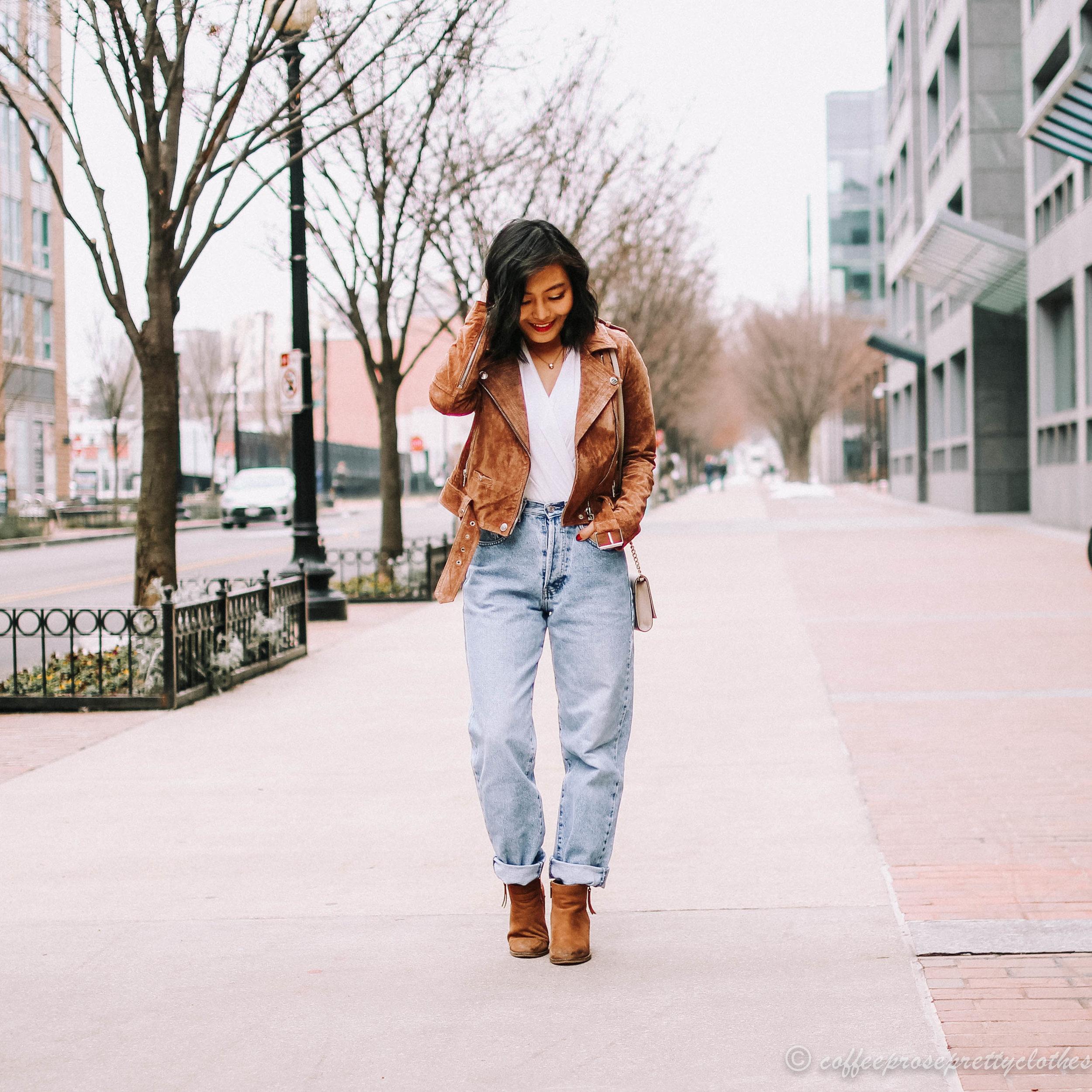 Peneloppevintage Vintage Jeans and Blank NYC Moto Jacket