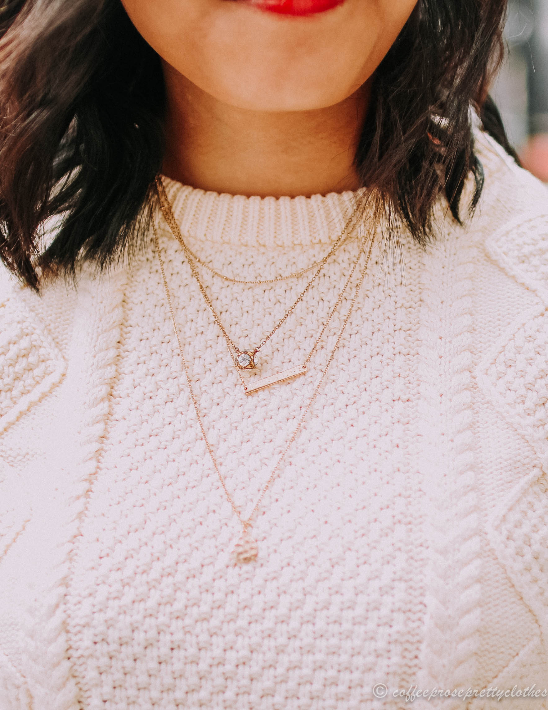 BP layered necklace