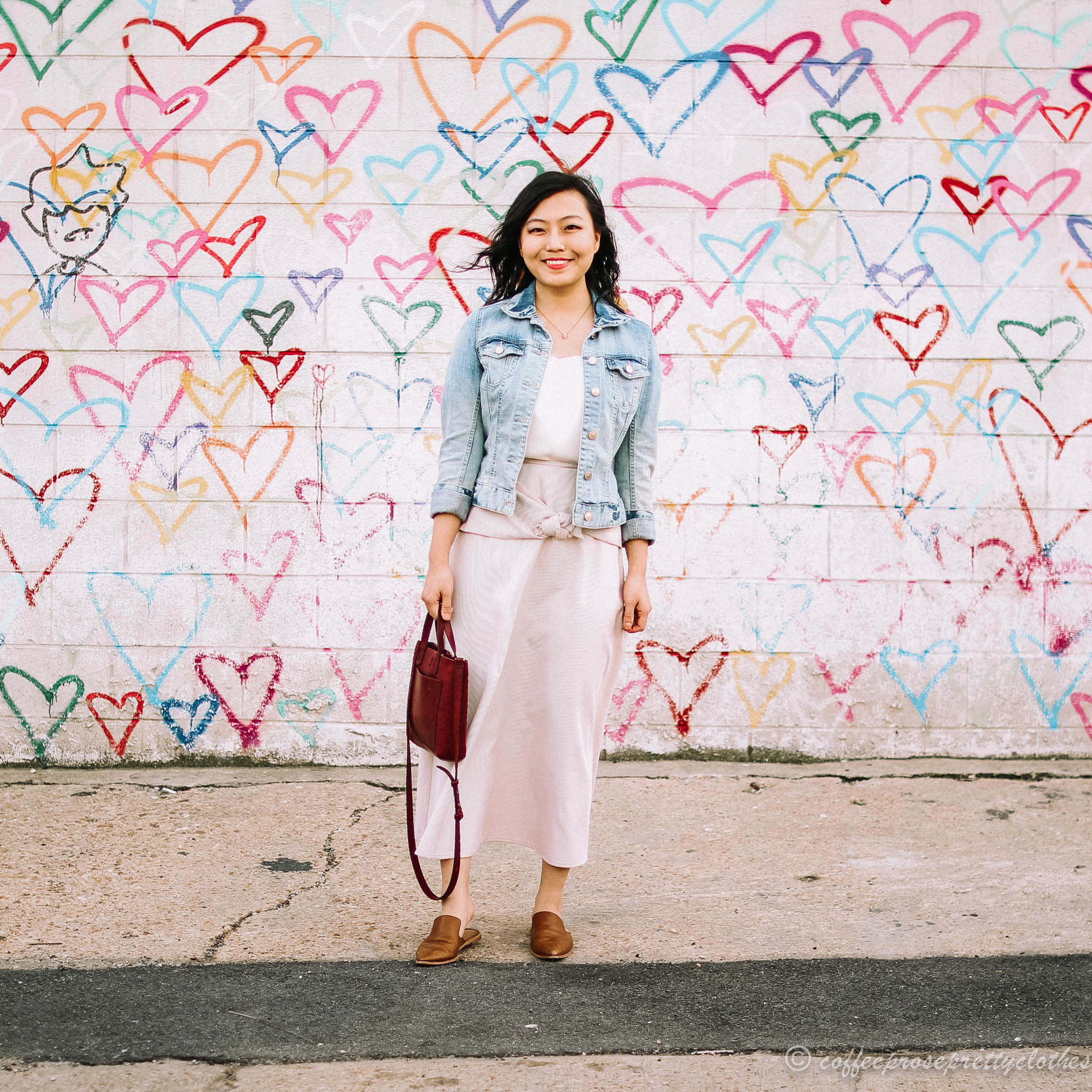 Mimi Miller Skirt, J.Crew cami, and H&M jean jacket