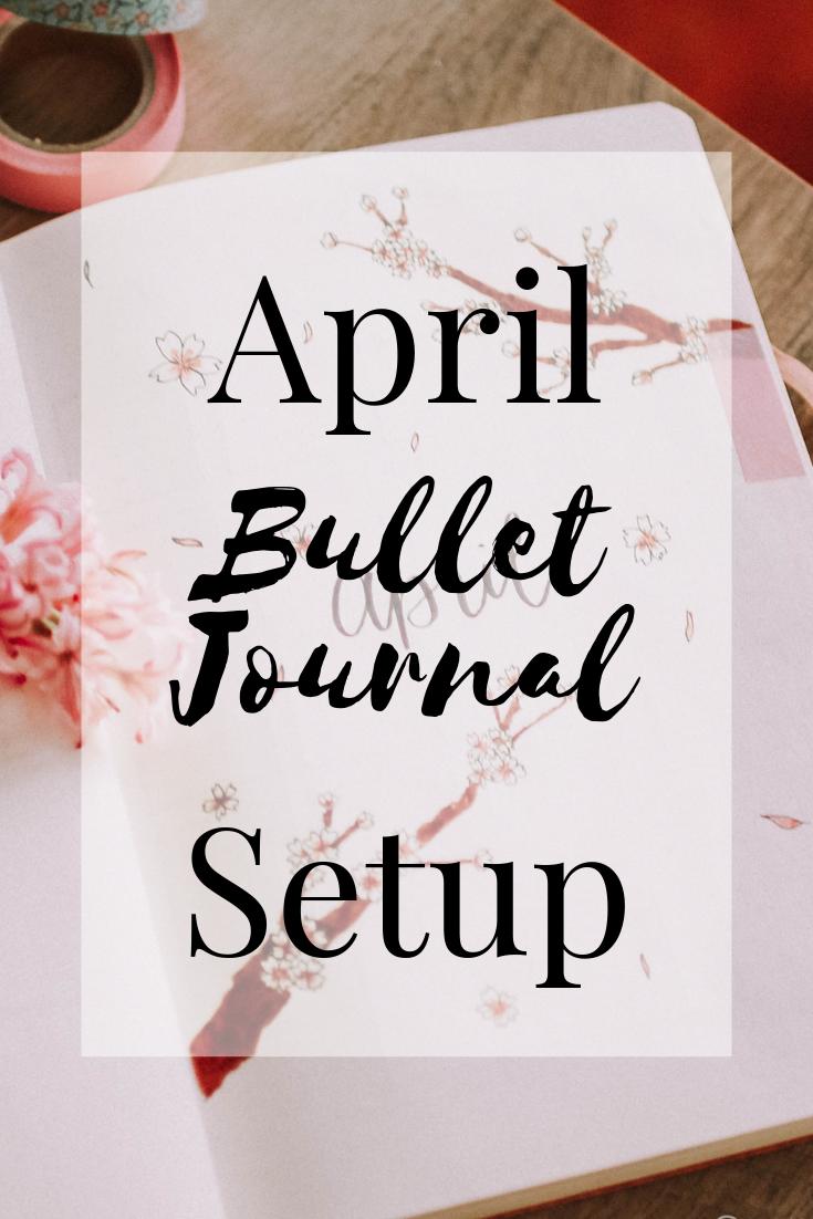 April Bullet Journal Cherry Blossom