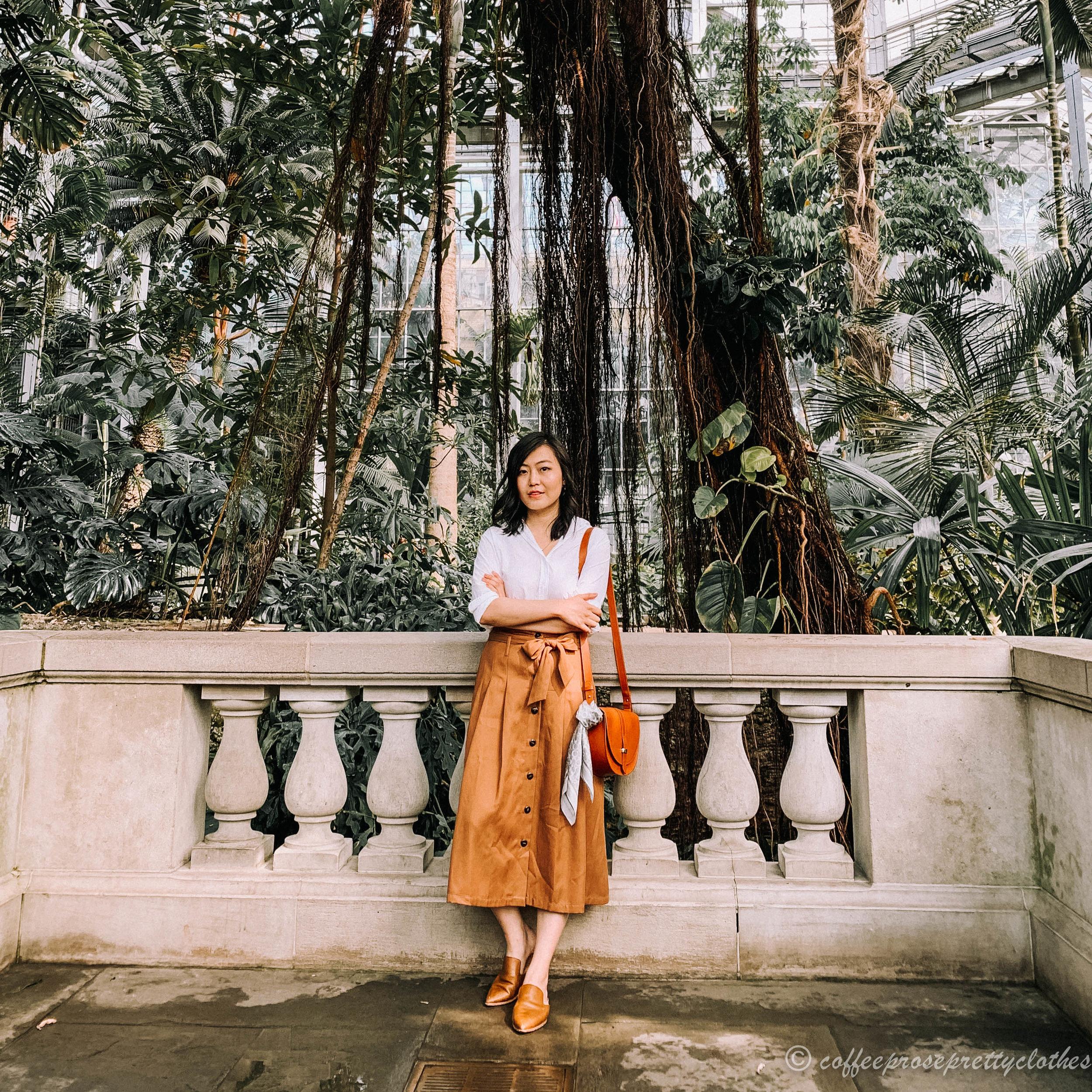 Sezane Amandine Skirt and Everlane Shirt