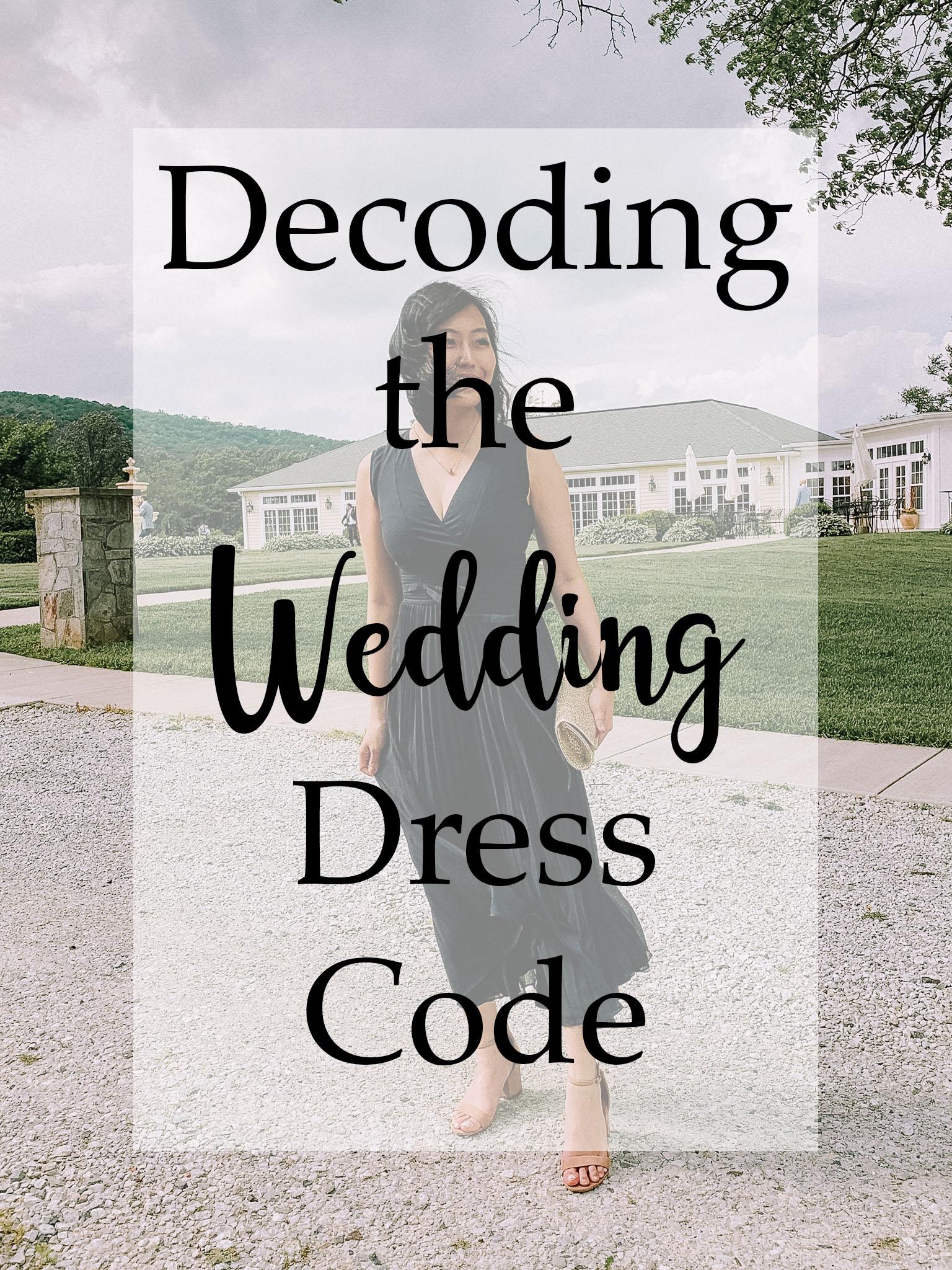 Decoding the Wedding Dress Code