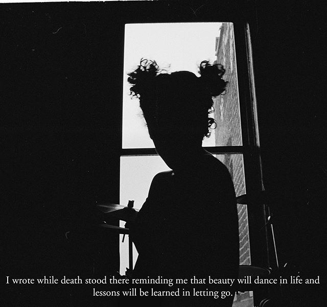 "Photos taken of me in 2012 with excerpts of my poetry. This was a piece about a dying bouquet of flower sitting on my dinning room table. ""Letting go""🍃 . . #filmphotography #35mm #poetry #bronx #silhouette"