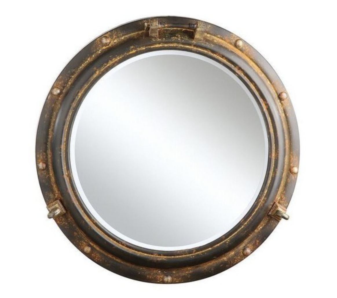 gold porthole mirror (we have one like this already!)