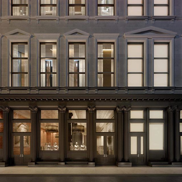 Rendering a facade restoration for a building in SoHo. . . . Typology : Mixed-Use  Number of Renderings : 1 Turnaround Time : 4 Days