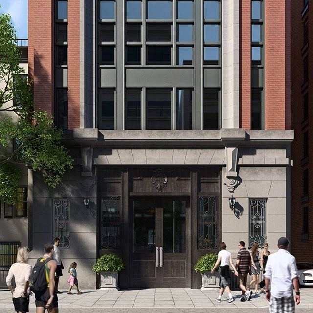 For a facade restoration to a landmarked building in Manhattan. . . . Typology : Mixed-Use  Number of Renderings : 2 Turnaround Time : 1 Week
