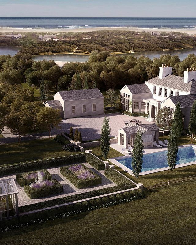 The Chauncey Peninsula, East Hampton, overlooking Georgica Pond, with views to the Atlantic Ocean. One of the most coveted properties in the Hamptons.