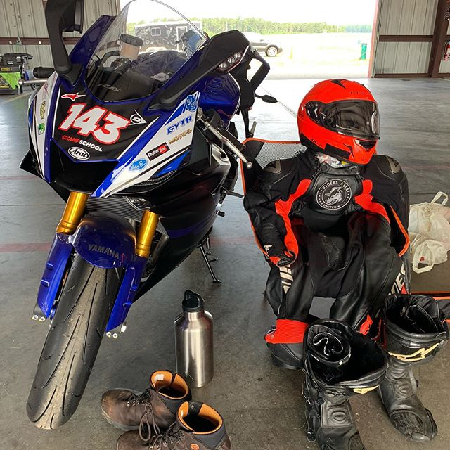 Getting back in the saddle today!  Thanks to #ycrs for the awesome #r6  #trackdays #opentrack #rydersalley