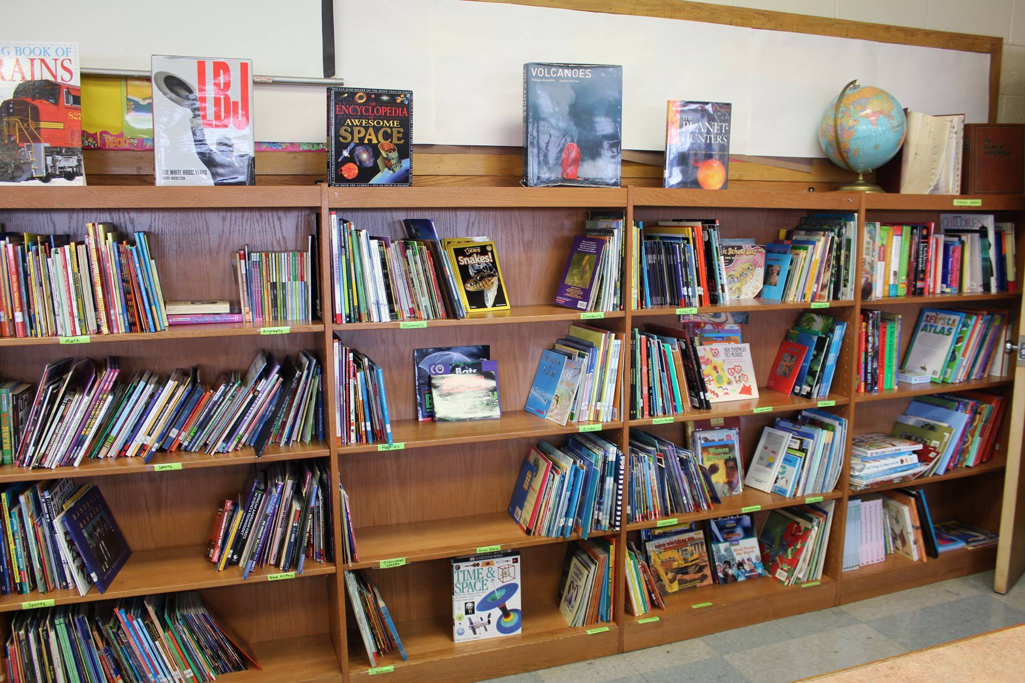 Second Library space created at Edward Gideon Elementary