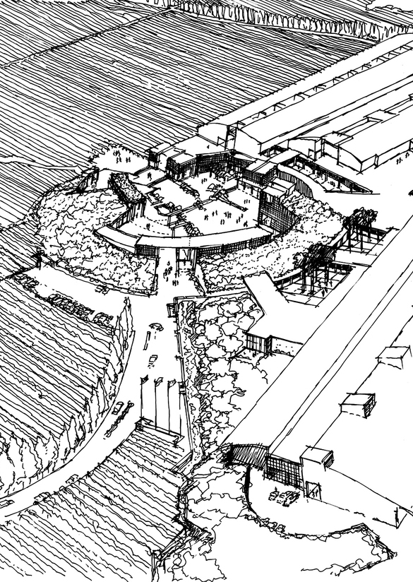 Caliterra Robert Mondavi Winery Architectural Sketch