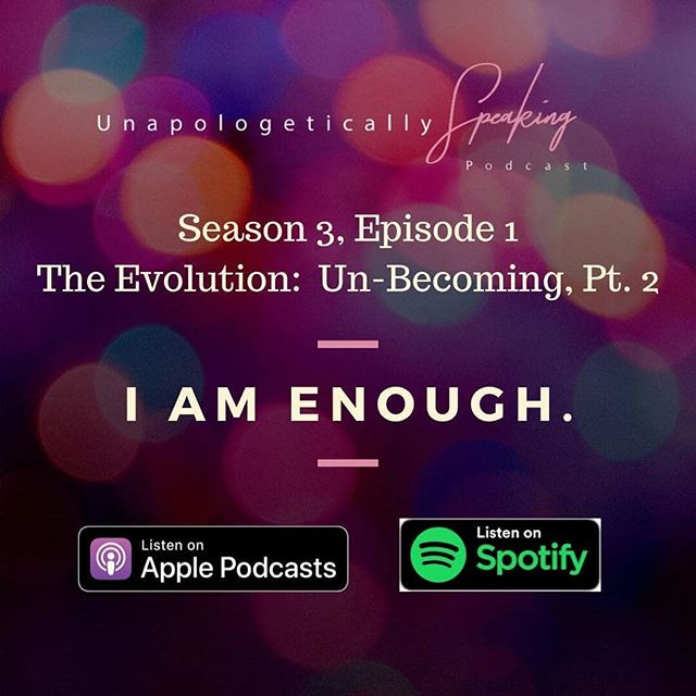 Check out Part 2 of our Un-becoming discussion on your way to work this AM! Start your week off with a reminder, that YOU ARE ENOUGH! 💕 ****************************** Too often we hear others use the phrase YOU ARE ENOUGH! But we challenge you to view the idea of being enough slightly different. Being enough is less about forcing everyone to except you bad flaws and all, and it is more about getting in touch with the essence of who you are as woman. It's more about letting your inner goodness rise to the occasion time and time again —to the point where you are above reproach. Not perfect, but above reproach. In this week's chat, Jamie shares 5 declarations that will help you to live in the reality that you are ENOUGH!