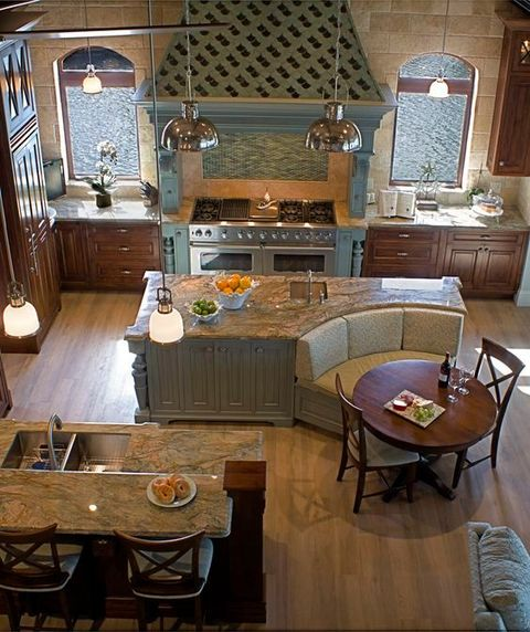 3. Funky & functional - This kitchen is so funky and functional -and check out the little breakfast nook! Can you imagine a better place to sip coffee and start the day?