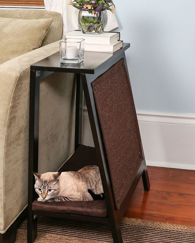 We love the idea of using upholstered furniture as scratchers and loungers for cats! This is a fun DIY project that can be as simple or as complex and you'd like it to be.⠀ ⠀ Visit our blog to see our picks for the Top 5 Pet Friendly Condos in Edmonton! #ontheblog ⠀