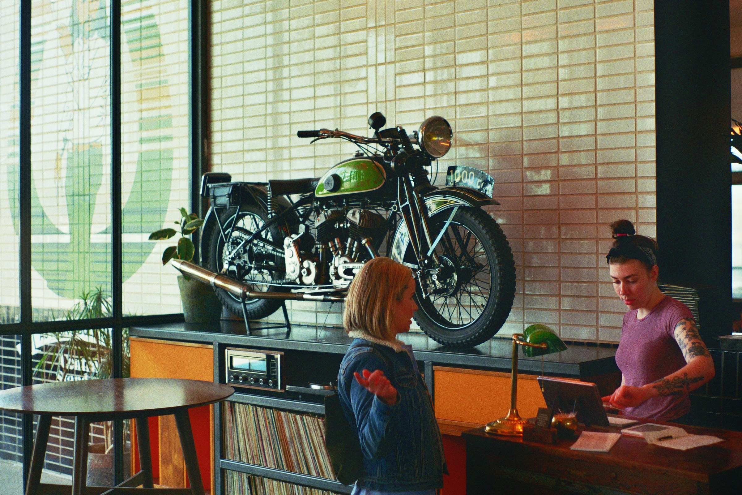In the lobby of the South Congress Hotel, where Rob and I filled up on some burgers before our journey to East Austin.  Austin, TX