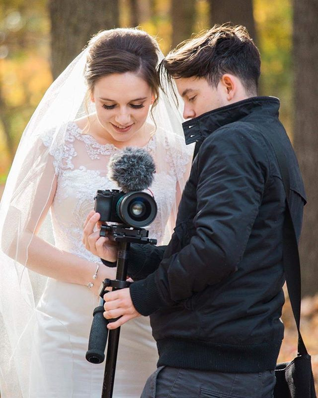 I love working with friends. Super thankful to @beautifulmessmo for snagging some #bts shots of me in the field. . . . . . . #sony #a7s @rokinon @glidecam #devingrahamsignatureseries #wedding #film #stlouis @millenniumstl #cinematography #dathairtho