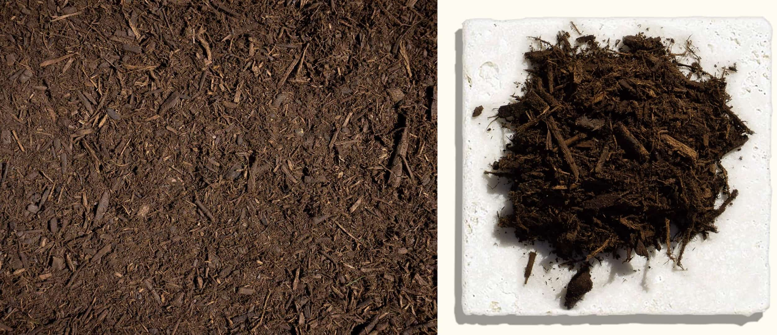 Double Ground Mulch $27.99 $29.99 $29.99 - Made from local native hardwood trees, shredded twice and aged to medium brown.