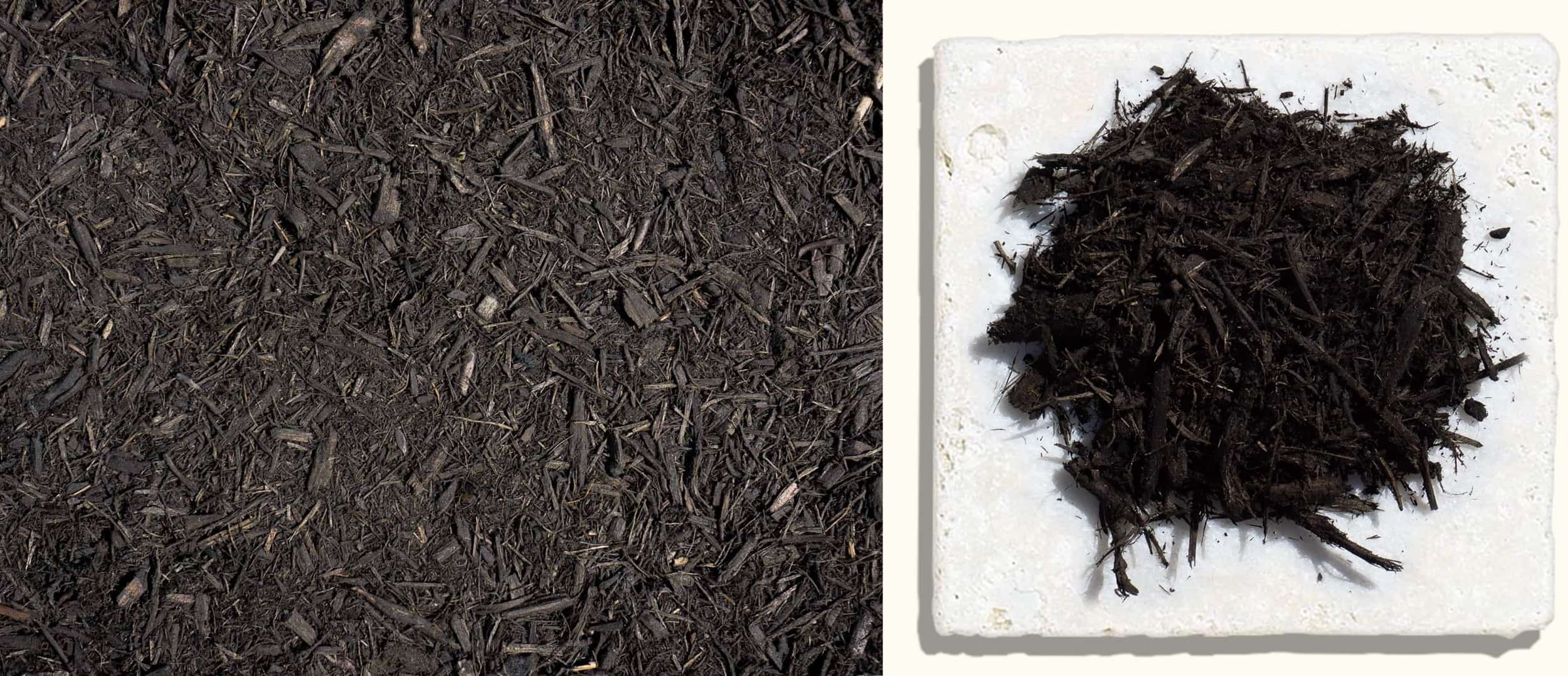 Black Dyed Mulch $35.99 $37.99 $37.99 - Our black, season lasting colored mulch is the closest to the look of black soil to really make your plant colors pop.