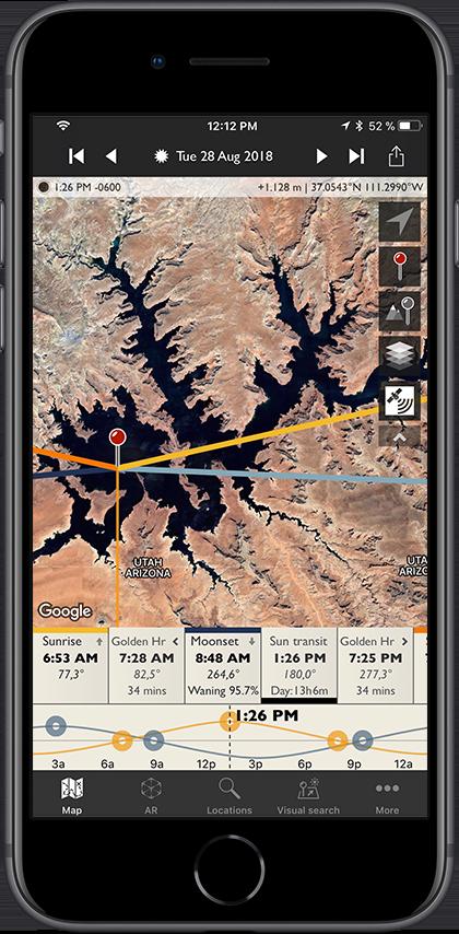 TPE for iOS — The Photographer's Ephemeris
