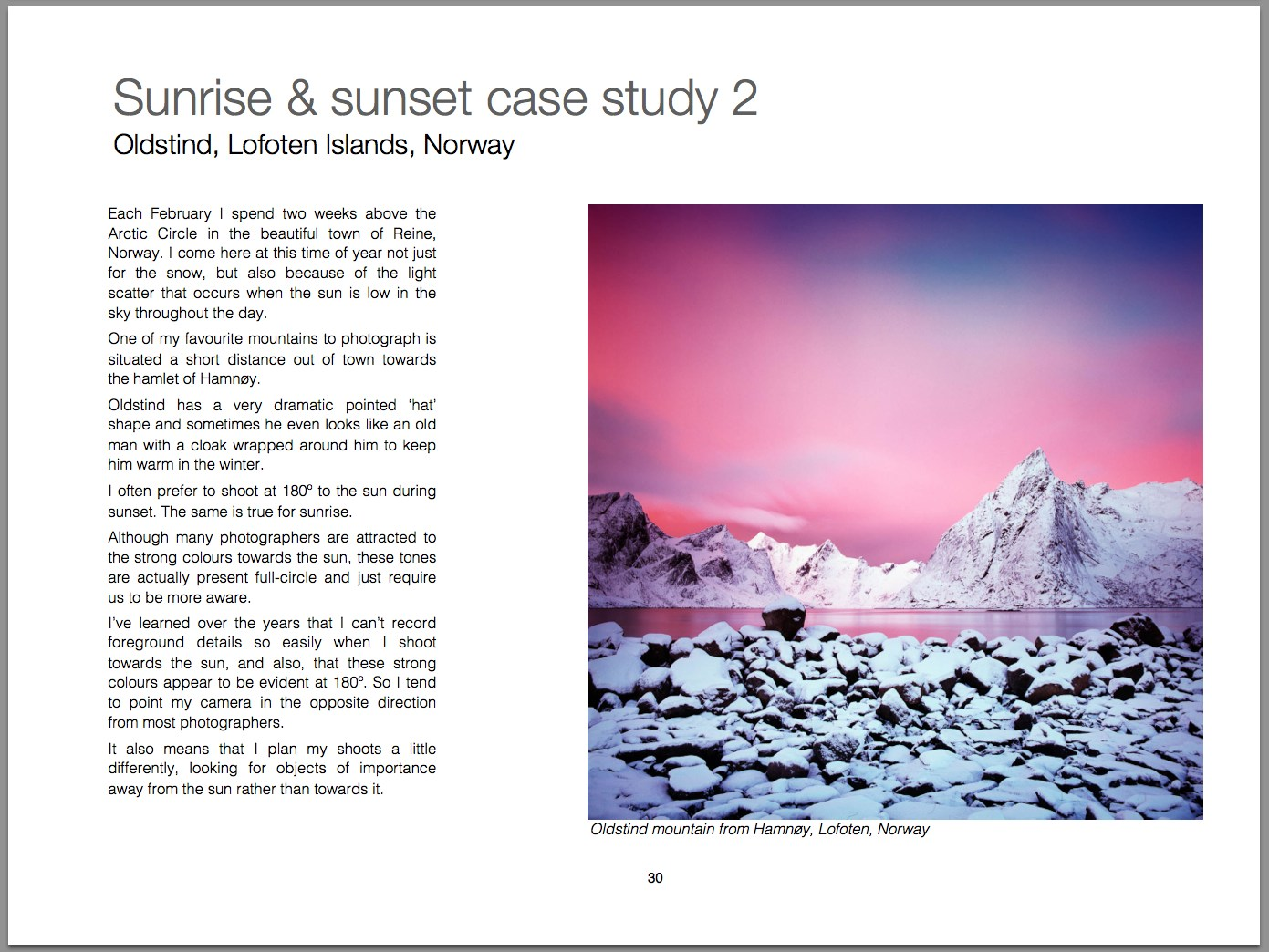 Sample page: Lofoten Islands case study