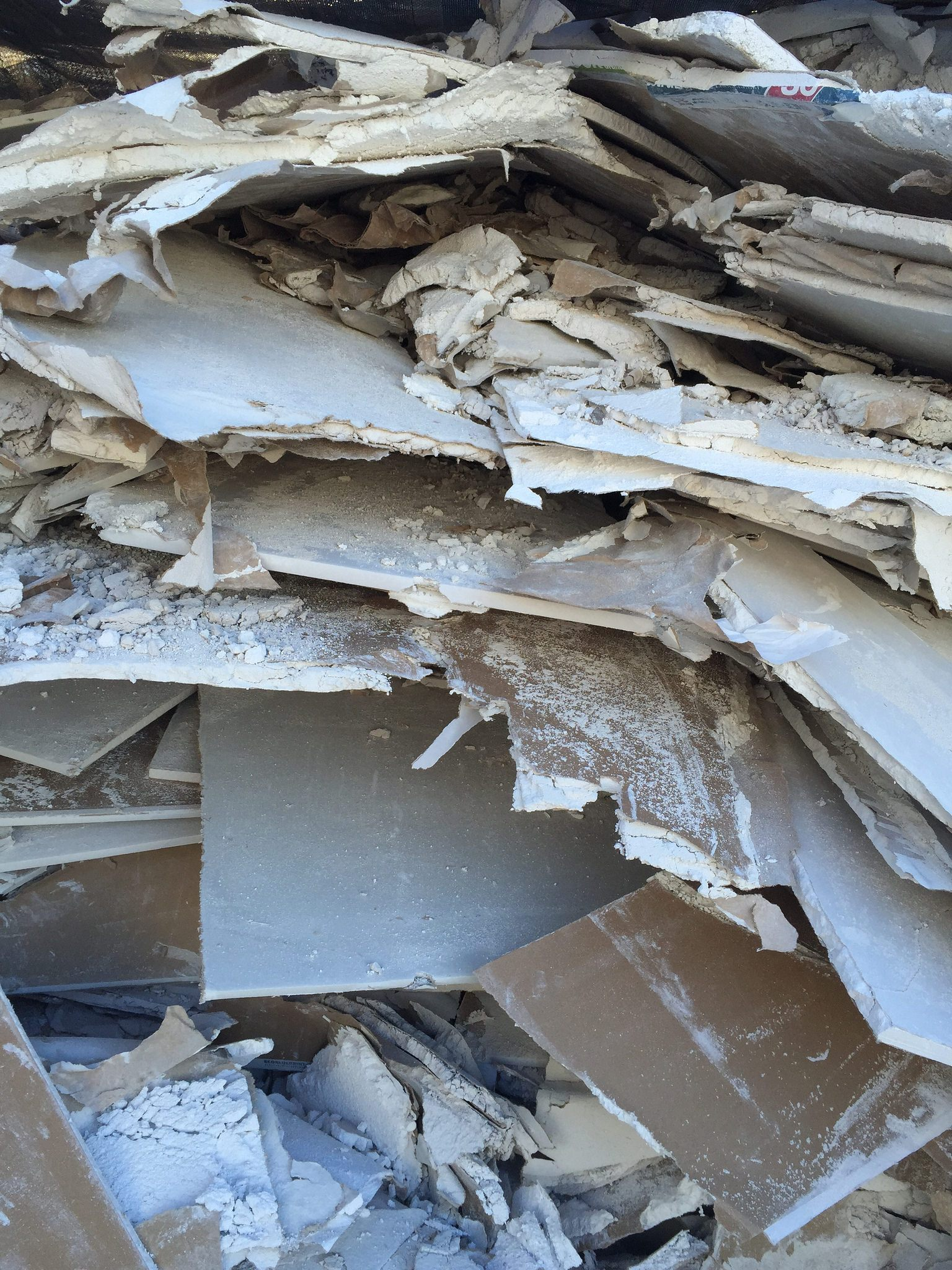 Plant rejects or clean demolition wallboard can be used