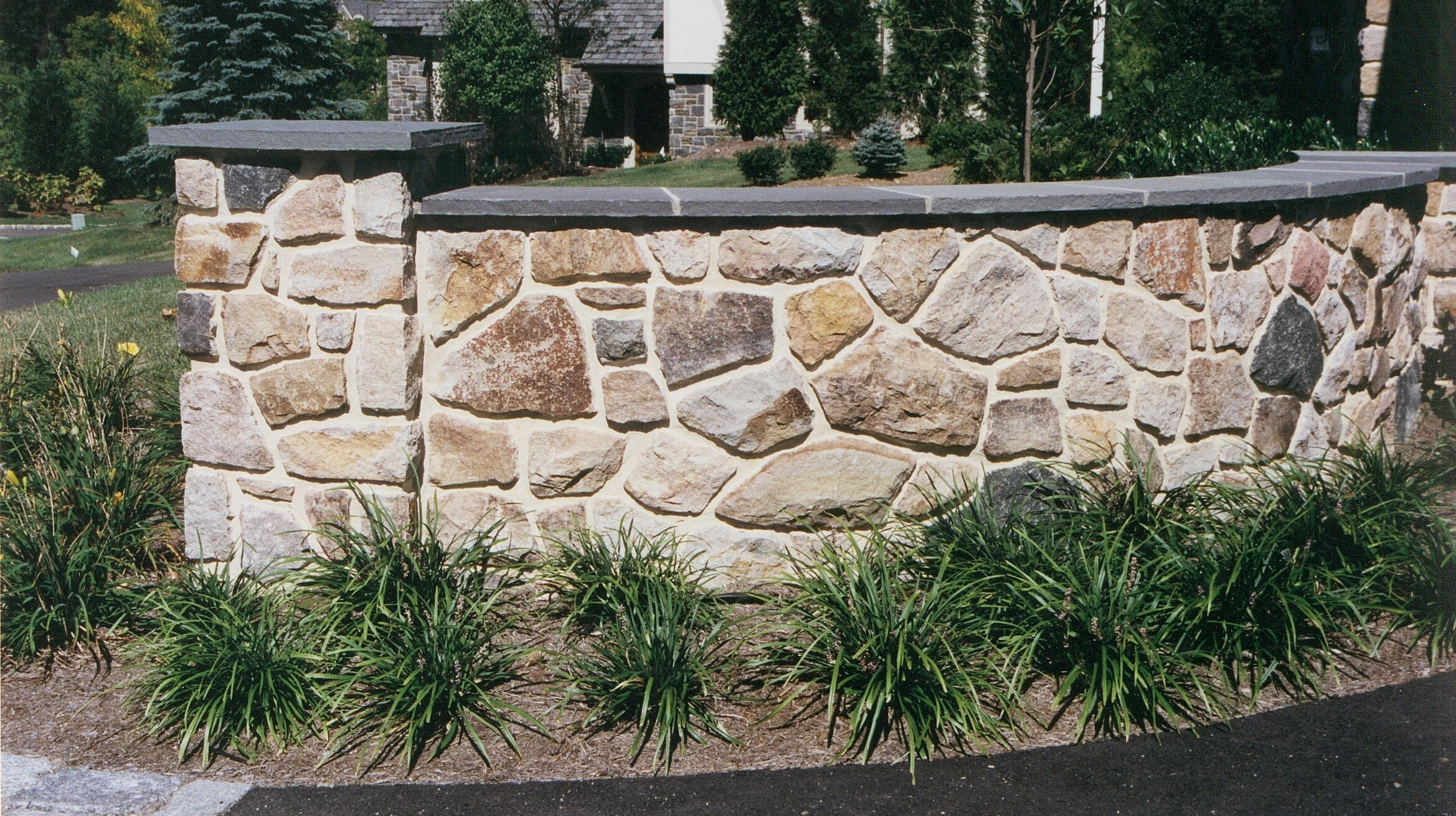 Stone Driveway Wall Flagstone Capping.jpg