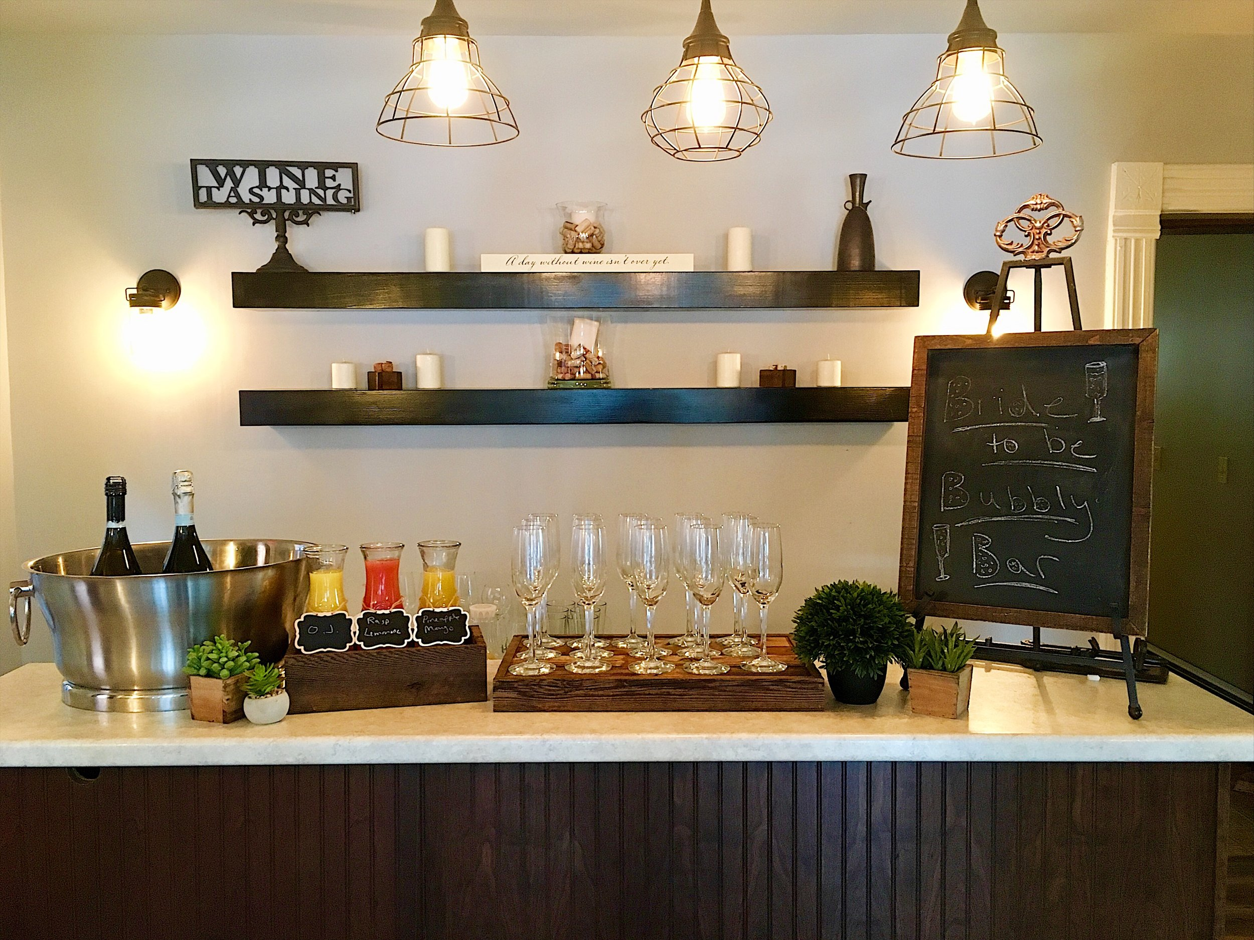 Assorted selection of fine wines & craft beers.Mimosa Bar available during pre-wedding brunch.