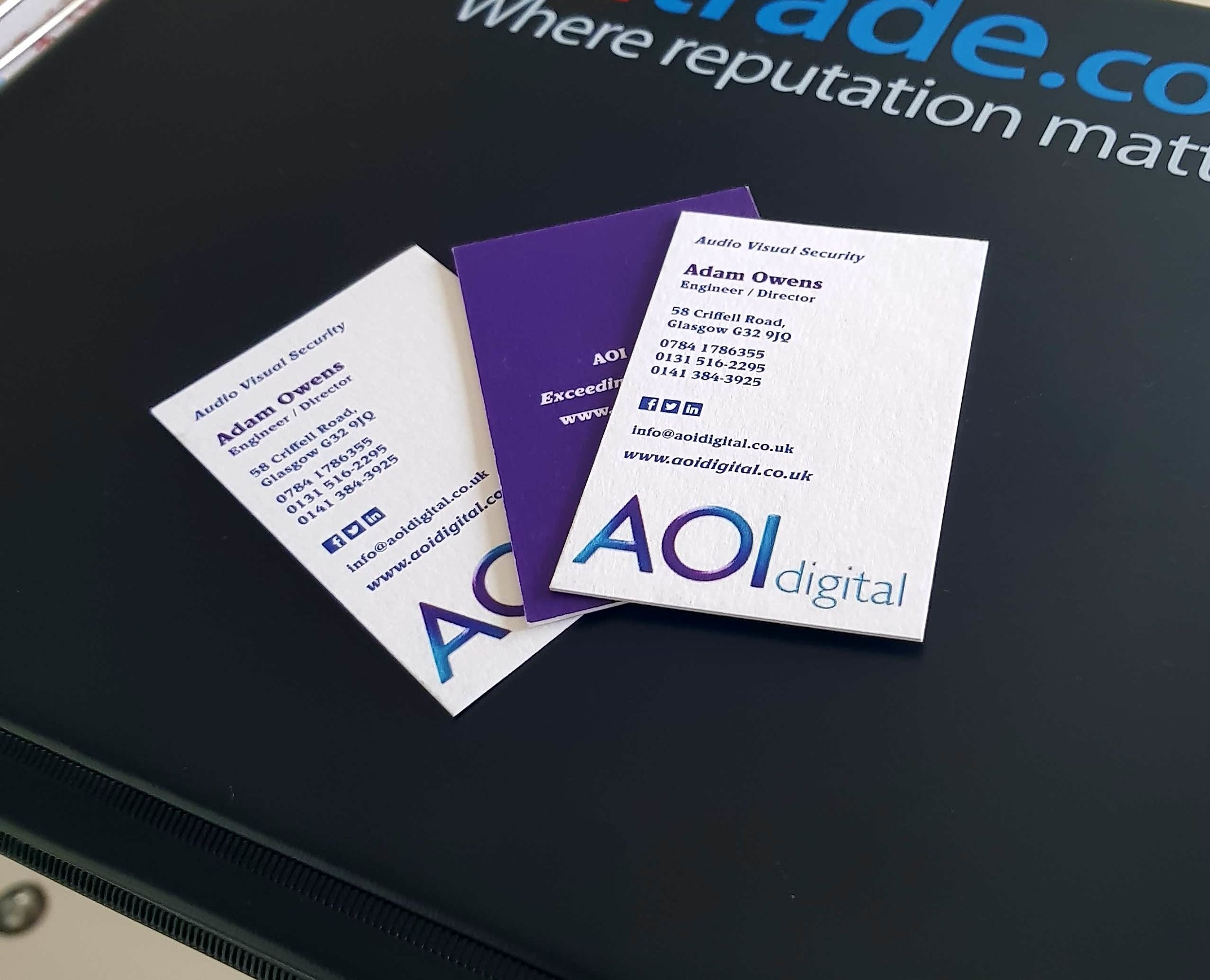 AOI strive to provide first class service and our customer care is unparalleled, to back this up we give feedback forms to all of our clients make sure high industry standards are achieved -