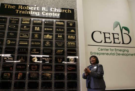 GTG plaque is top center as founding sponsor of ceed
