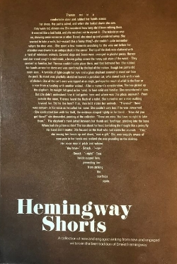Evan Williams - Hemingway Shorts, containing the short story, Surface Tension, by Evan Williams.jpg