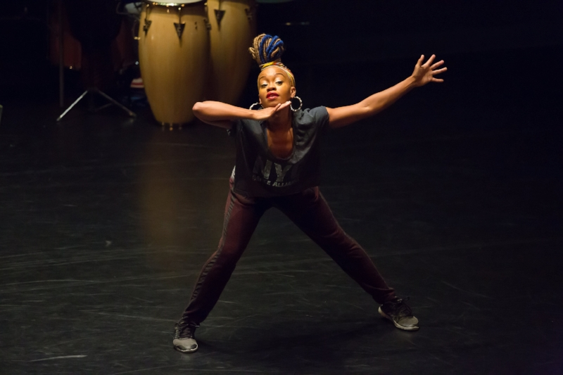 Camille A. Brown rehearses  Untitled  Photo Credit Hunter Canning, Baryshnikov Arts Center 2017