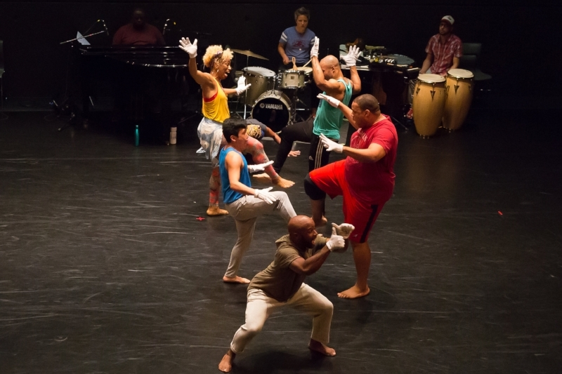 The company of Camille A. Brown's  Untitled Musical  photo credit Hunter Canning, Baryshnikov Arts Center 2017