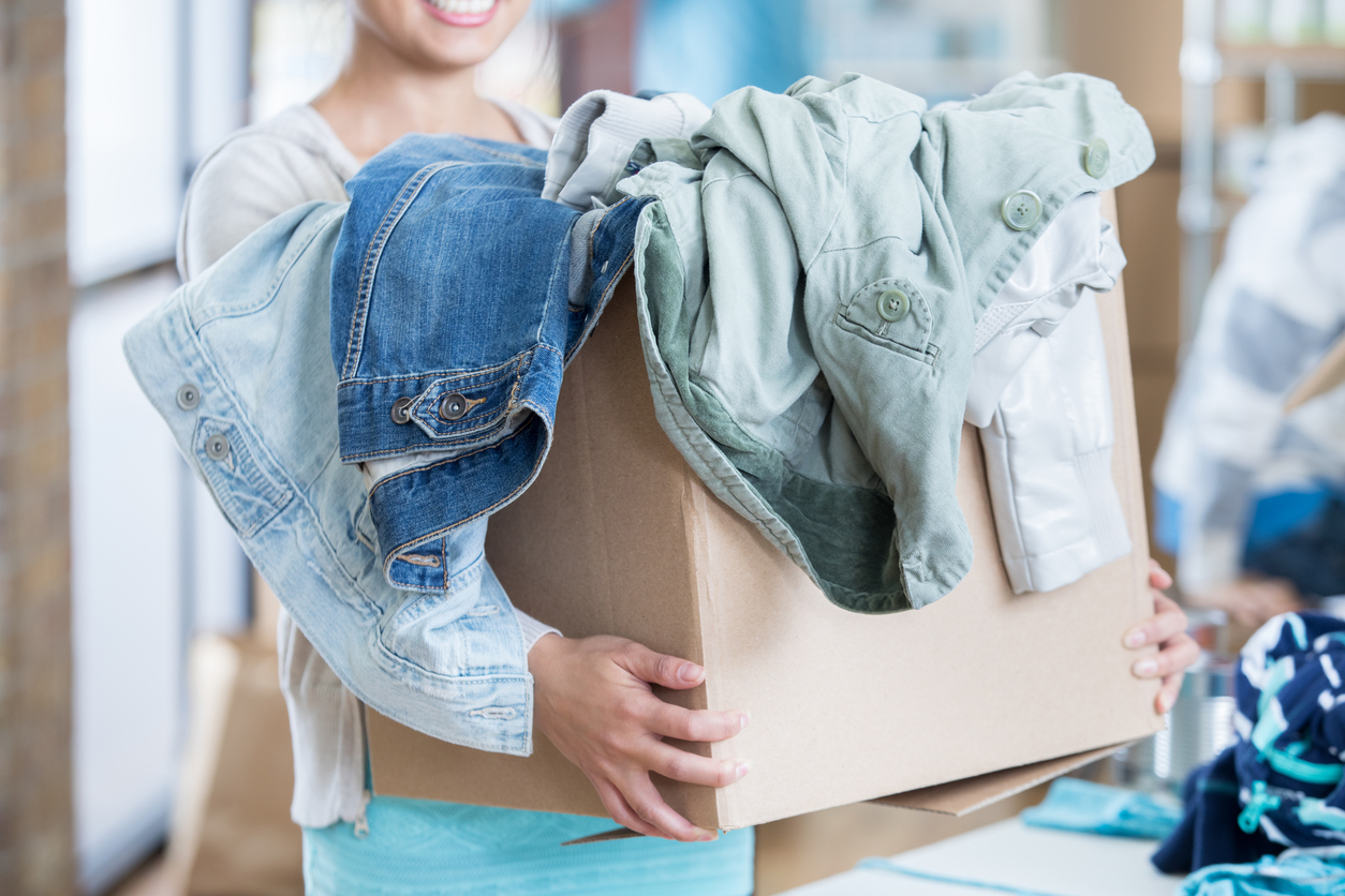 DONATE - Support our work by contributing clothing and household items.