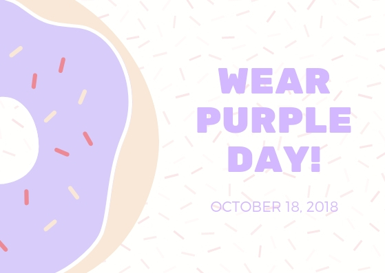 Wear Purple Day 2018 - Businesses and individuals from the tri-county area participated in wearing purple on October 18th to show support for Domestic Violence Awareness Month.