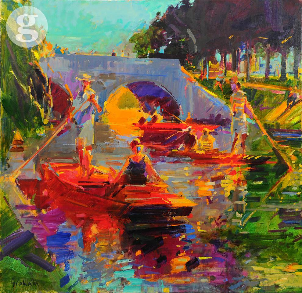 Cambridge Style 91 x 91cm - oil