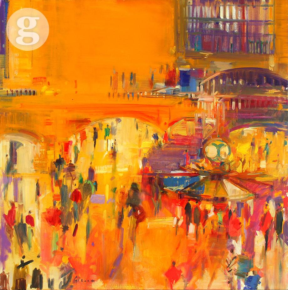 Grand Central 91x91cm - oil