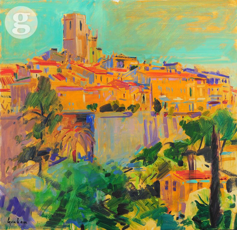 St Paul de Vence 76x76cm - oil
