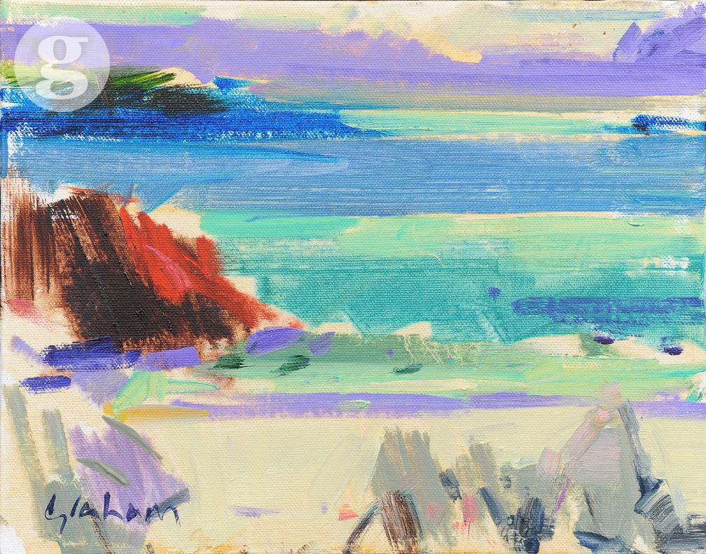 Iona White Sands 20x25cm - oil