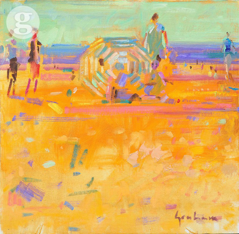 Picasso's Parasol 35x35cm - oil