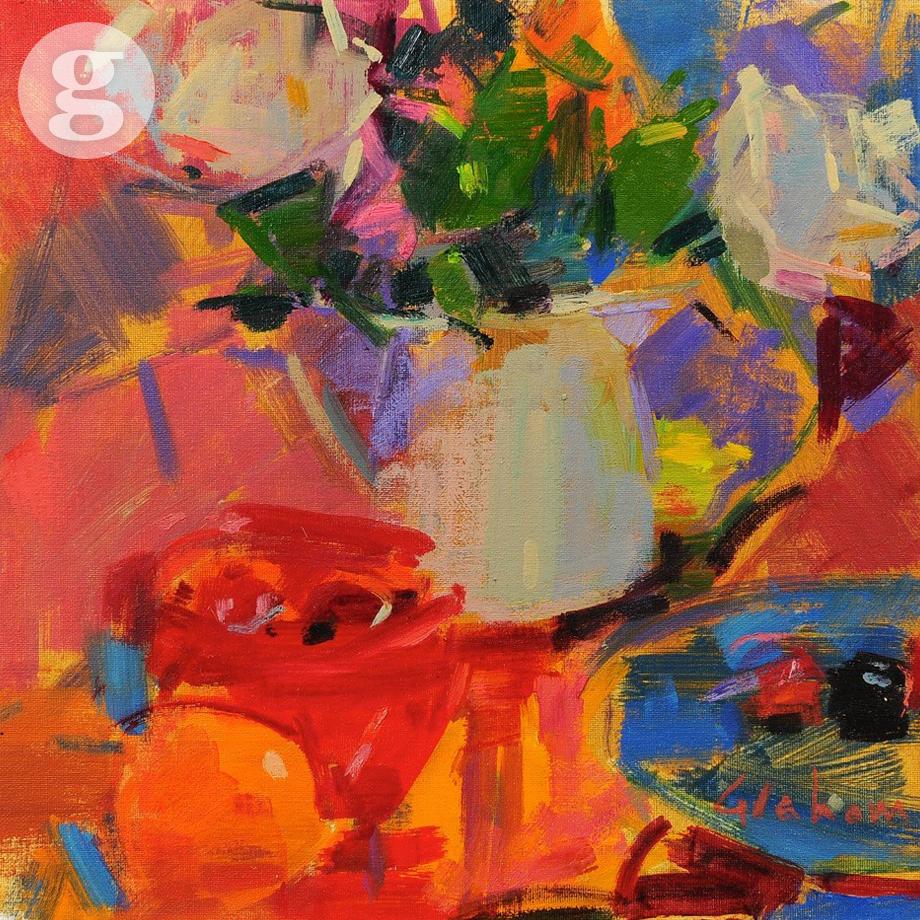 Roses 35 x 35 cm - oil