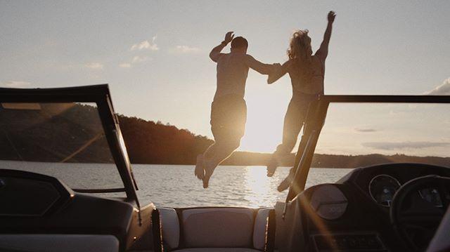 Jumping into the weekend like... #adventurefilm #adventure #georgia #bride #love #weddinginspiration #weddingideas #engaged #bridetobe #weddings #groom #weddinginspo #couple #light #lake #boating
