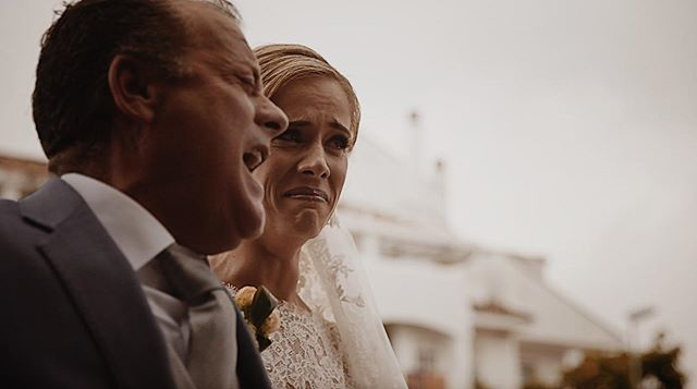 Such an emotional moment to witness! 😭 Ro's father sang to her just minutes before walking her down the aisle ❤️ Right in the feels! #weddingfilm #wedding #spain #emotions #emotional #marbella #bride #love #weddinginspiration #weddingideas #engaged #bridetobe #weddings #groom #weddinginspo #couple #light