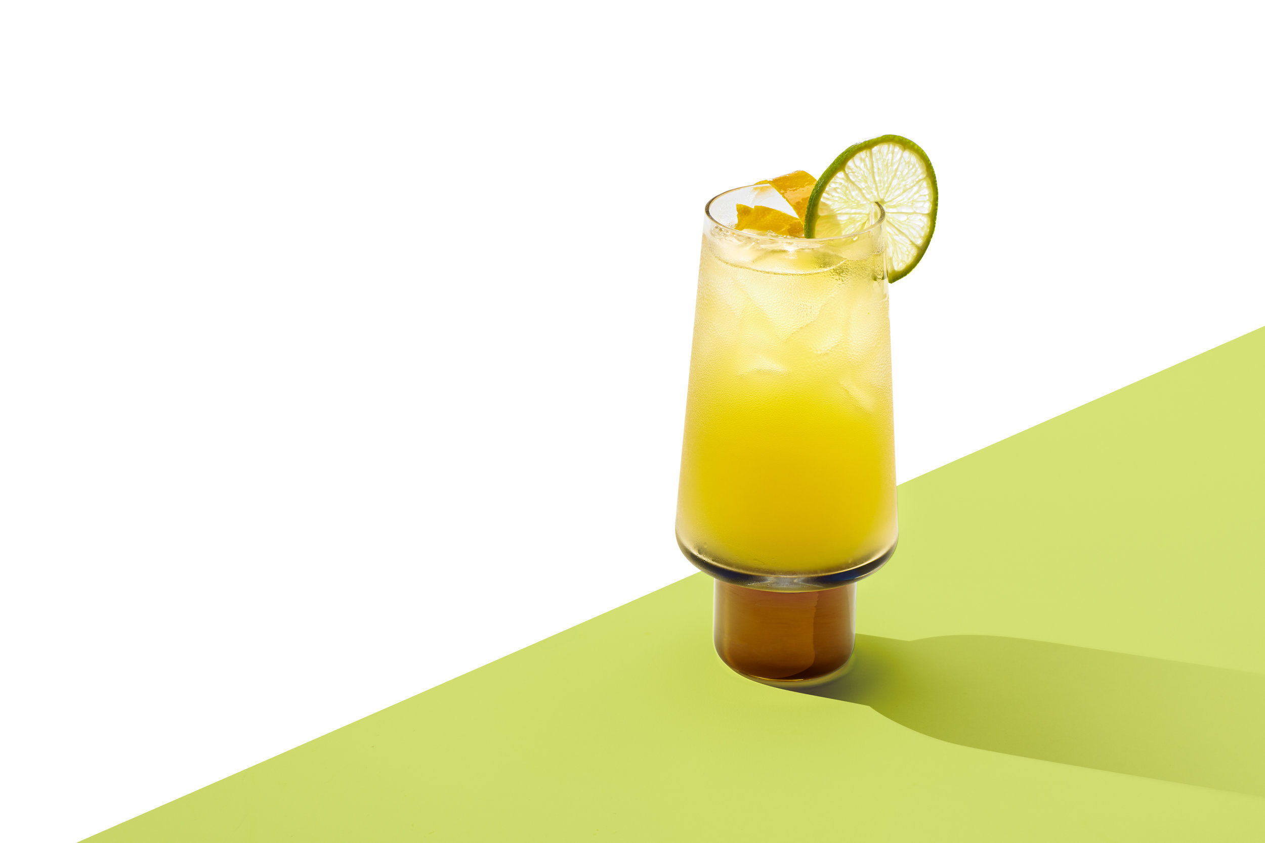 ANEJO HIGHBALL - 1.5 oz Aged Rum.75 oz FV Mexican Lime & Agave2 dashes Angostura or Degroff's Bitters2 oz Ginger BeerBuild first four ingredients over ice in a tall glass, top with ginger beer, stir gently, and garnish.Glass: Collins/HighballGarnish: an orange slice and a lime wheelYield: 6.5 oz