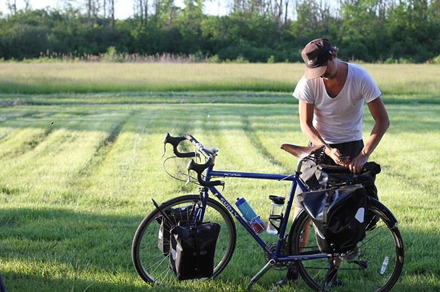All we need to live (and then some) is attached to our bicycles. I've come to find that complexity & many possessions leads to anxiety. Simplicity and minimalism leads to peace of mind.