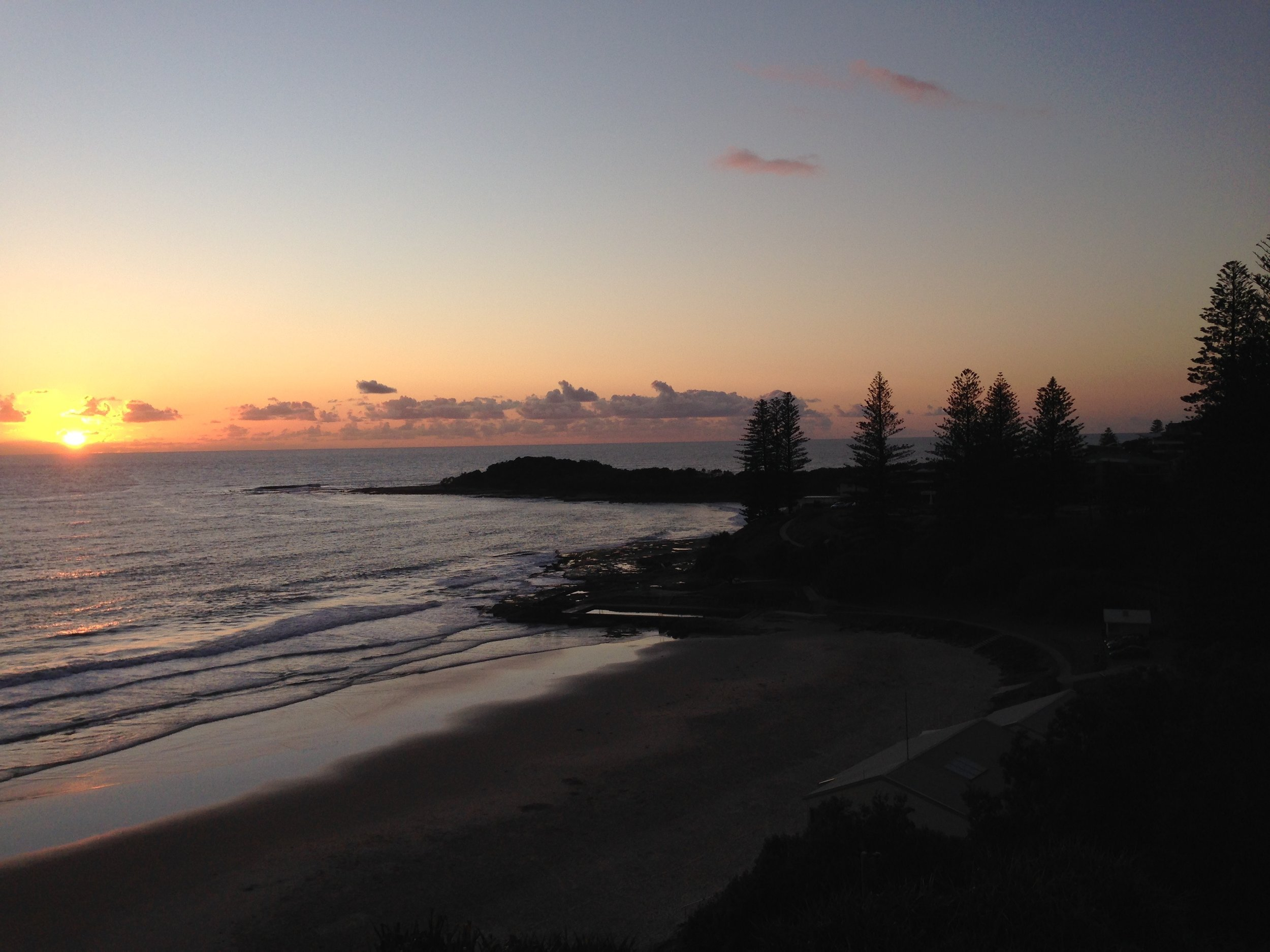 View from our accomodation at Yamba