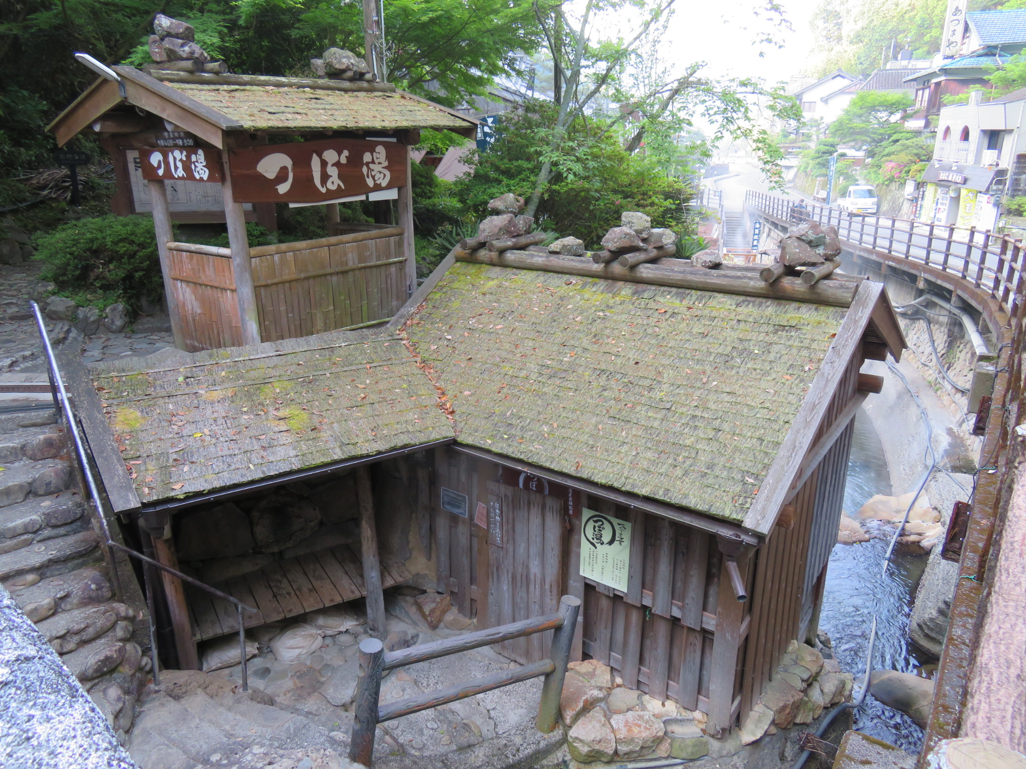 World Heritage listed onsen at Yunomine Onsen