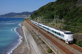 The train back to Osaka KIX airport travels along the scenic coast for long sections.