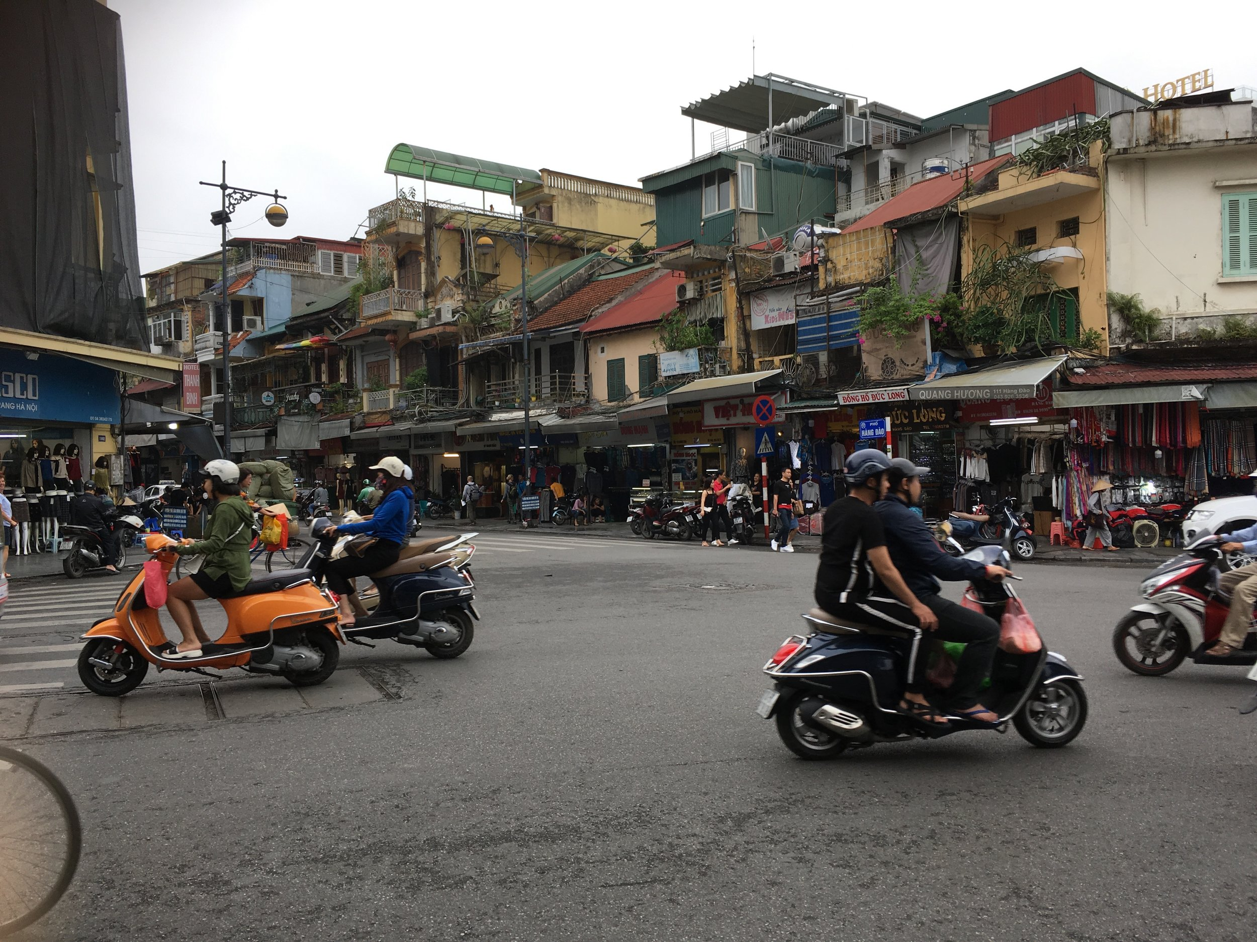 A very lively city with lots of motorbikes!