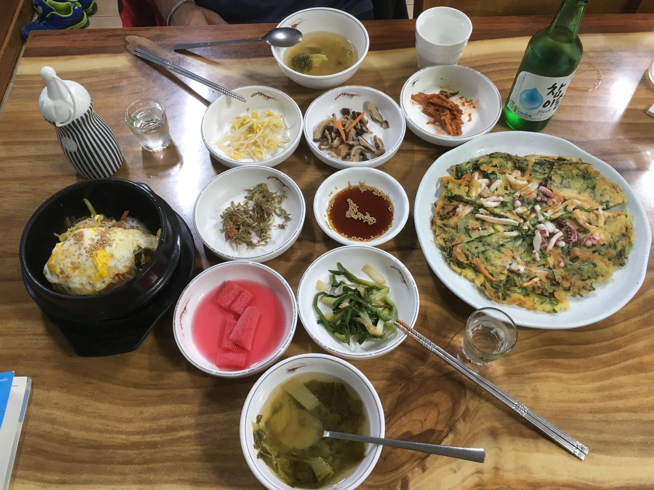 Delicious traditional Korean meal