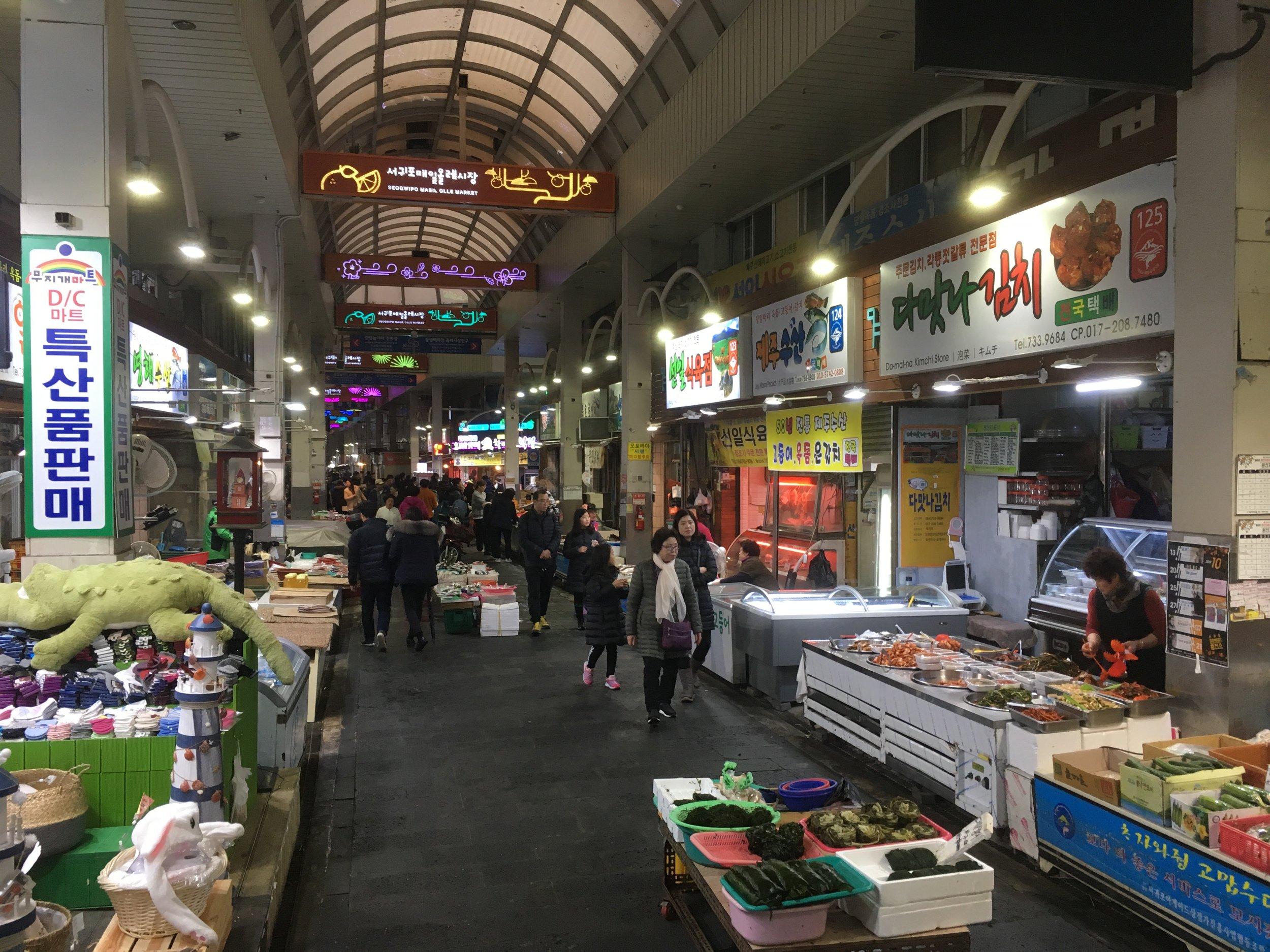 Great markets to explore at Seogwipo-ri